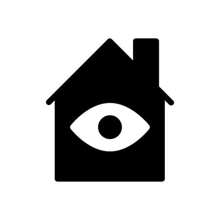 house view vector glyph flat icon