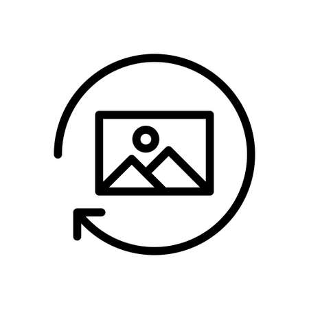 picture reload vector thin line icon