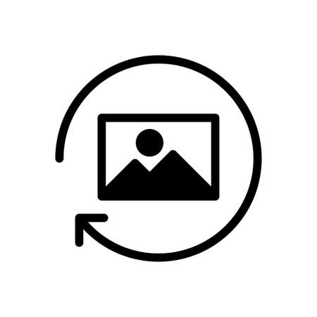 picture reload vector glyph flat icon