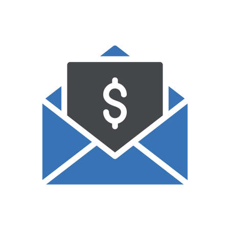 email vector glyph colour icon 矢量图片