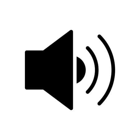 volume vector glyph flat icon