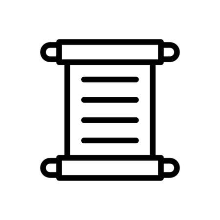 museum letter vector thin line icon