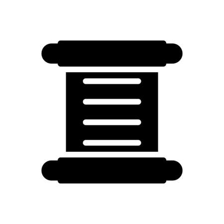 museum letter vector glyph flat icon