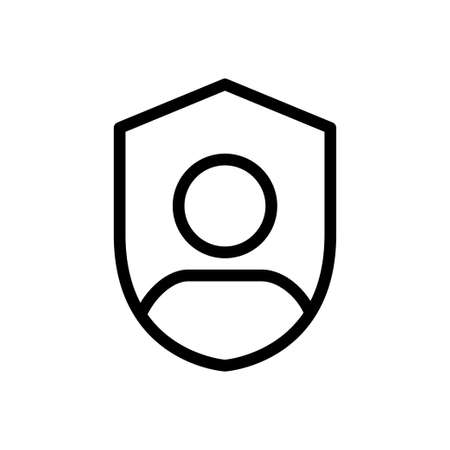 user vector thin line icon