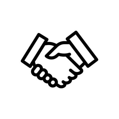 partnership vector thin line icon