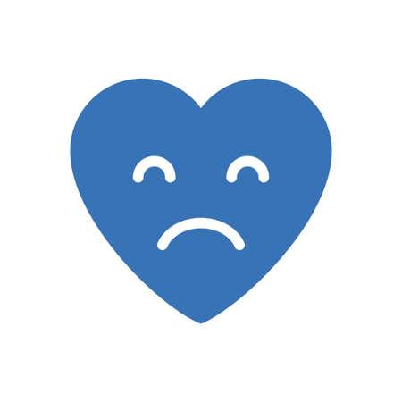 sad vector glyph colour icon