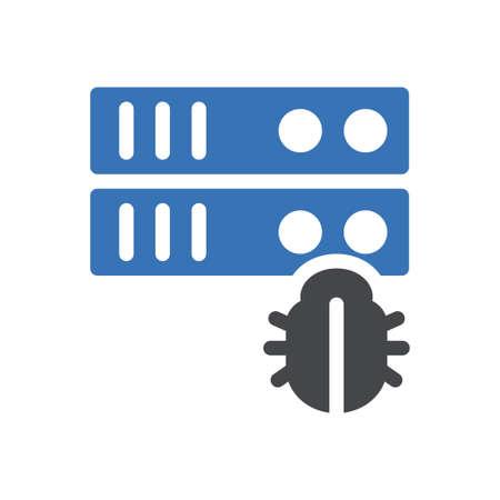 server vector glyph colour icon