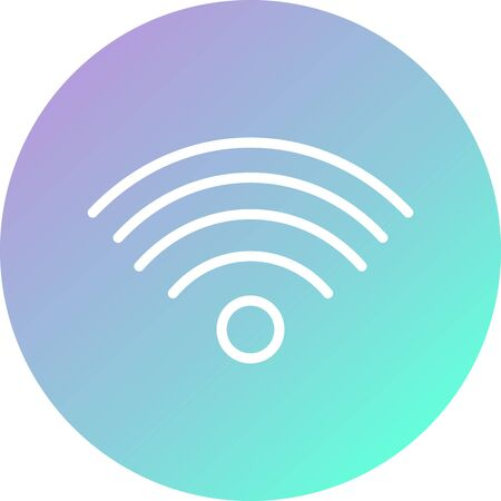 Wifi Signals Vector Icon White Background