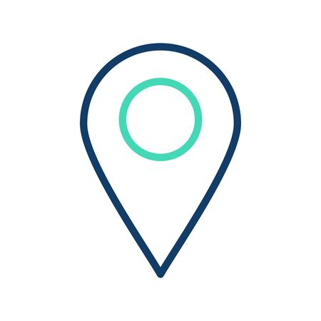 Location Vector Icon White Background