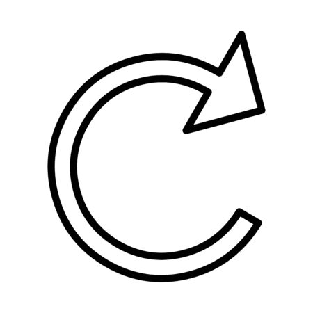 Refresh Arrow Vector Icon White Background Vector Illustration