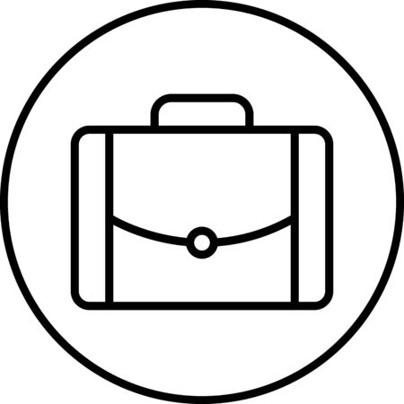 Briefcase Vector Icon White Background Illustration