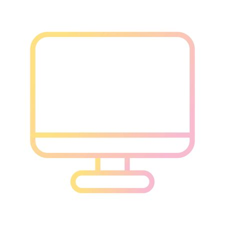 LCD Vector Icon White Background