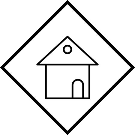 House Vector Icon White Background Stock Vector - 133469694