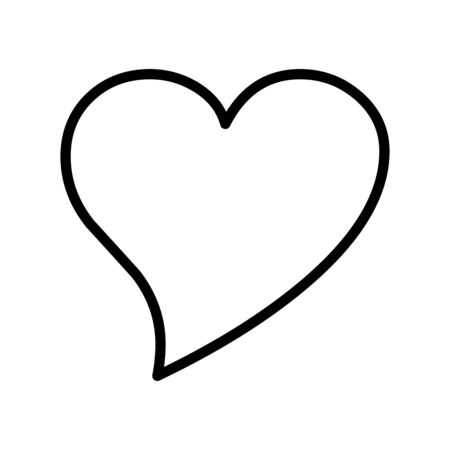 Heart Vector Icon White Background