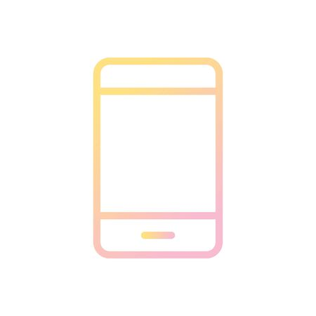 Mobile Vector Icon White Background