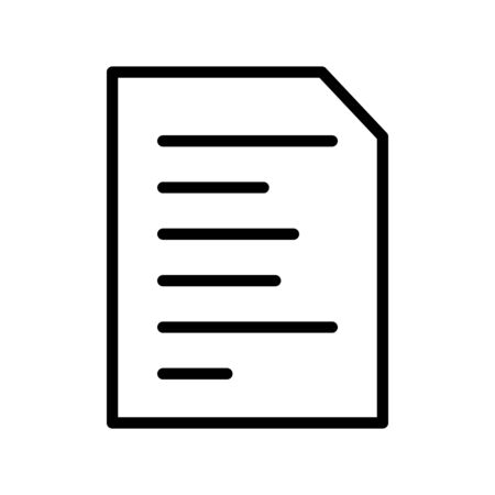 Document Vector Icon White Background