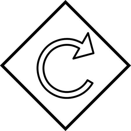 Refresh Arrow Vector Icon White Background