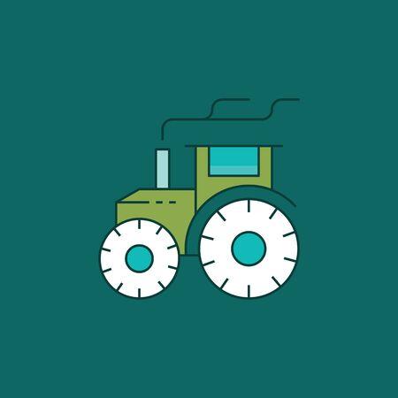 Tractor icon vector Çizim