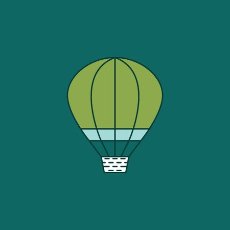 Hot Air Balloon Ilustrace