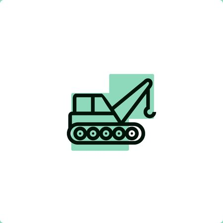 Construction services icon for mobile and web design.