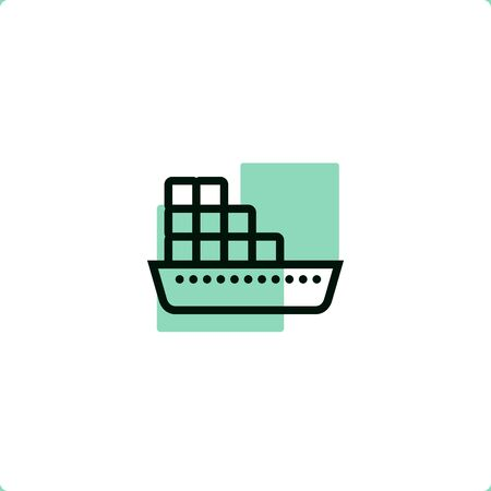 Container Ship icon for mobile and web design.