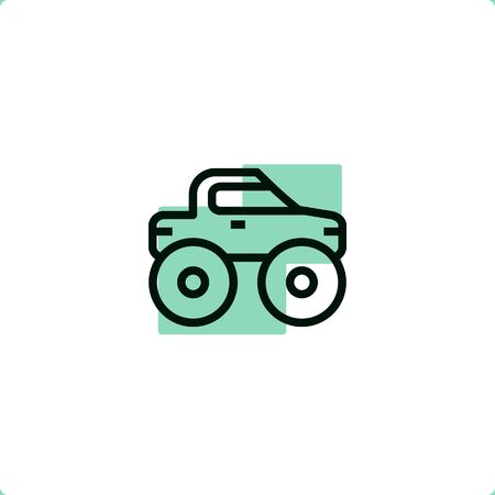 Monster truck icon for mobile and web design.
