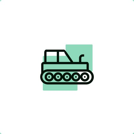 Agricultural Tractor icon for mobile and web design.