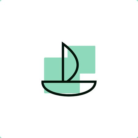 Sailboat Icon for mobile and web design.