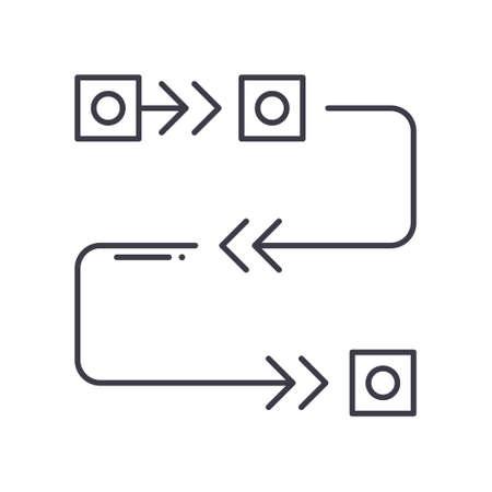 Agile methodology icon, linear isolated illustration, thin line vector, web design sign, outline concept symbol with editable stroke on white background. Ilustração