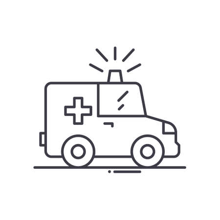 Call doctor icon, linear isolated illustration, thin line vector, web design sign, outline concept symbol with editable stroke on white background. Çizim