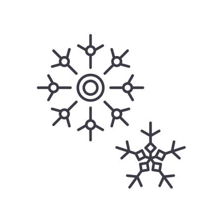 Snowflake icon, linear isolated illustration, thin line vector, web design sign, outline concept symbol with editable stroke on white background.