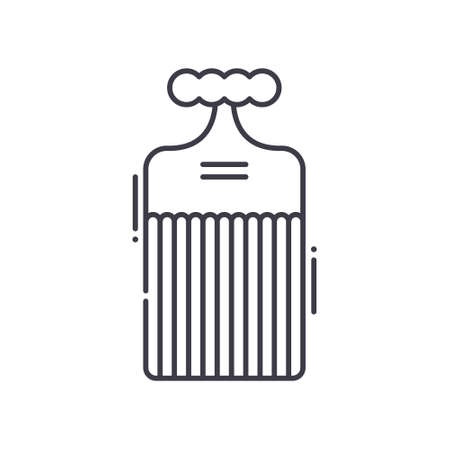 Comb concept icon, linear isolated illustration, thin line vector, web design sign, outline concept symbol with editable stroke on white background. 矢量图像