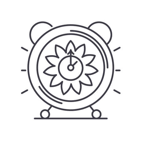 Time wisely icon, linear isolated illustration, thin line vector, web design sign, outline concept symbol with editable stroke on white background. Ilustração
