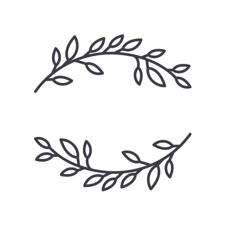 Laurel icon, linear isolated illustration, thin line vector, web design sign, outline concept symbol with editable stroke on white background. 向量圖像