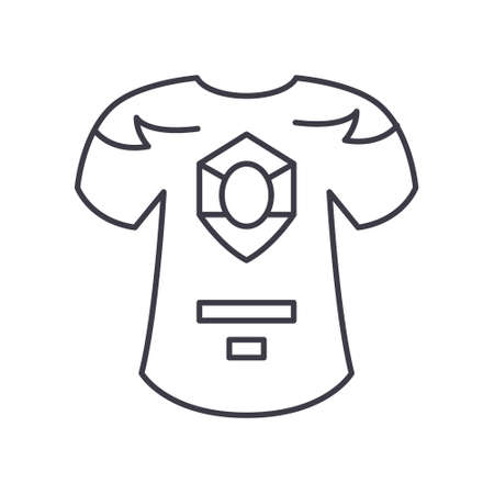 Uniform concept icon, linear isolated illustration, thin line vector, web design sign, outline concept symbol with editable stroke on white background.
