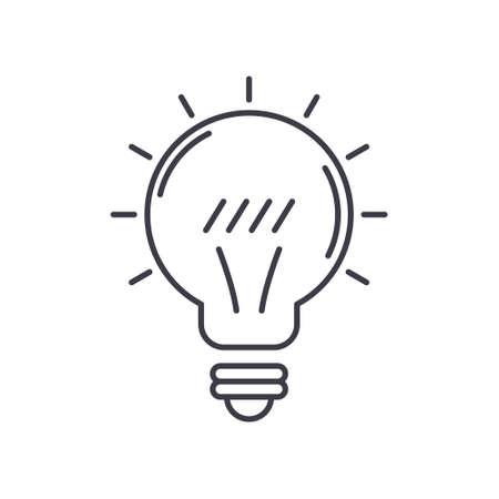 Light bulb idea icon, linear isolated illustration, thin line vector, web design sign, outline concept symbol with editable stroke on white background. Vektorgrafik