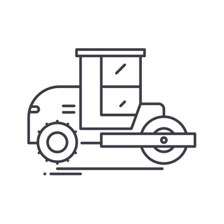 Pneumatic tyred rollers icon, linear isolated illustration, thin line vector, web design sign, outline concept symbol with editable stroke on white background.