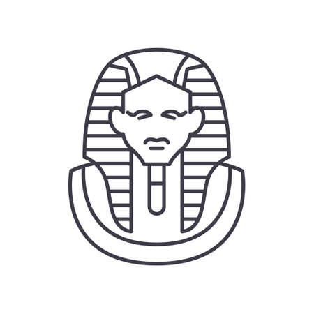 Pharaon icon, linear isolated illustration, thin line vector, web design sign, outline concept symbol with editable stroke on white background.