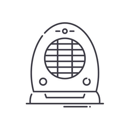Electric heater icon, linear isolated illustration, thin line vector, web design sign, outline concept symbol with editable stroke on white background.