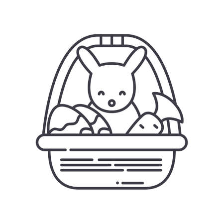 Easter icon, linear isolated illustration, thin line vector, web design sign, outline concept symbol with editable stroke on white background.