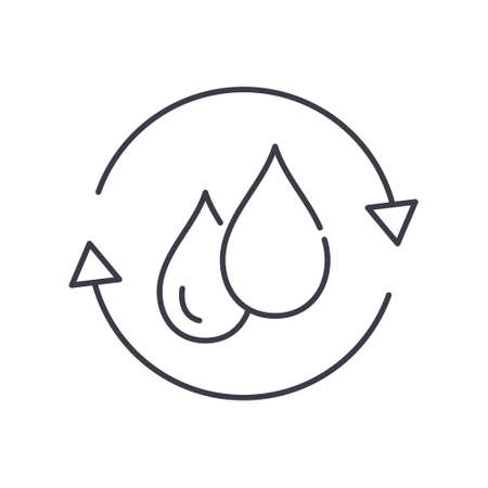 Waste water icon, linear isolated illustration, thin line vector, web design sign, outline concept symbol with editable stroke on white background.