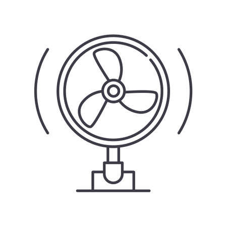 Fan concept icon, linear isolated illustration, thin line vector, web design sign, outline concept symbol with editable stroke on white background.