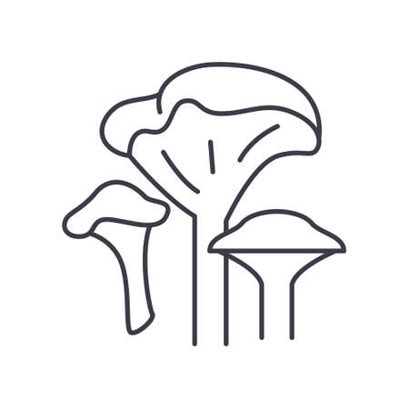 Mushrooms concept icon, linear isolated illustration, thin line vector, web design sign, outline concept symbol with editable stroke on white background.