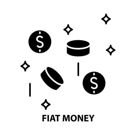 fiat money icon, black vector sign with editable strokes, concept illustration