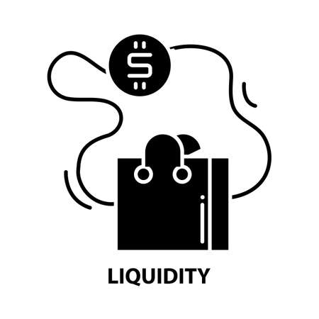 liquidity icon, black vector sign with editable strokes, concept illustration