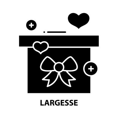 largesse icon, black vector sign with editable strokes, concept illustration