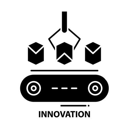 innovation icon, black vector sign with editable strokes, concept illustration