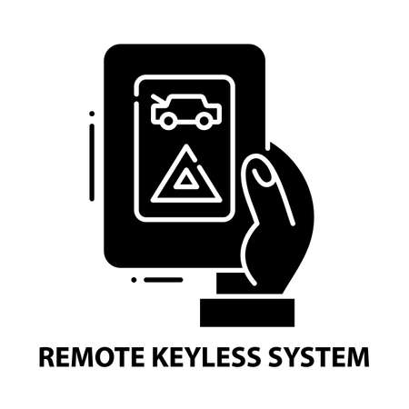 remote keyless system icon, black vector sign with editable strokes, concept illustration