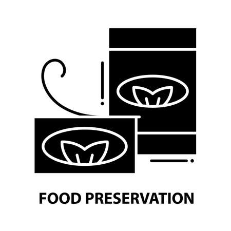 food preservation icon, black vector sign with editable strokes, concept illustration