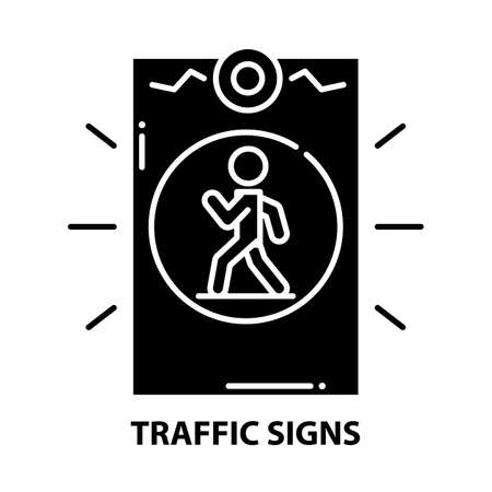 traffic signs symbol icon, black vector sign with editable strokes, concept illustration
